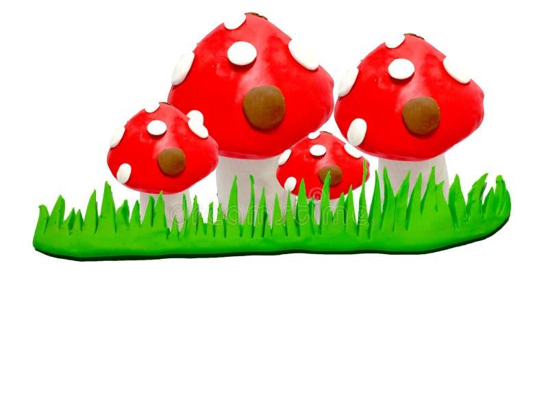 Модельный гриб глины стоковые фото