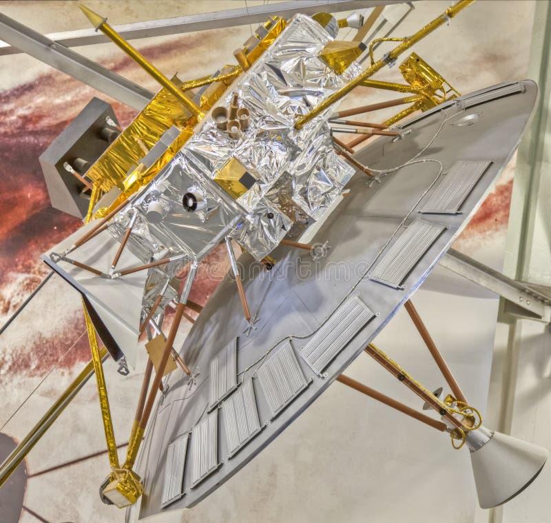 Модельный спутник на исследовательскийа центр NASA Ames стоковое изображение rf