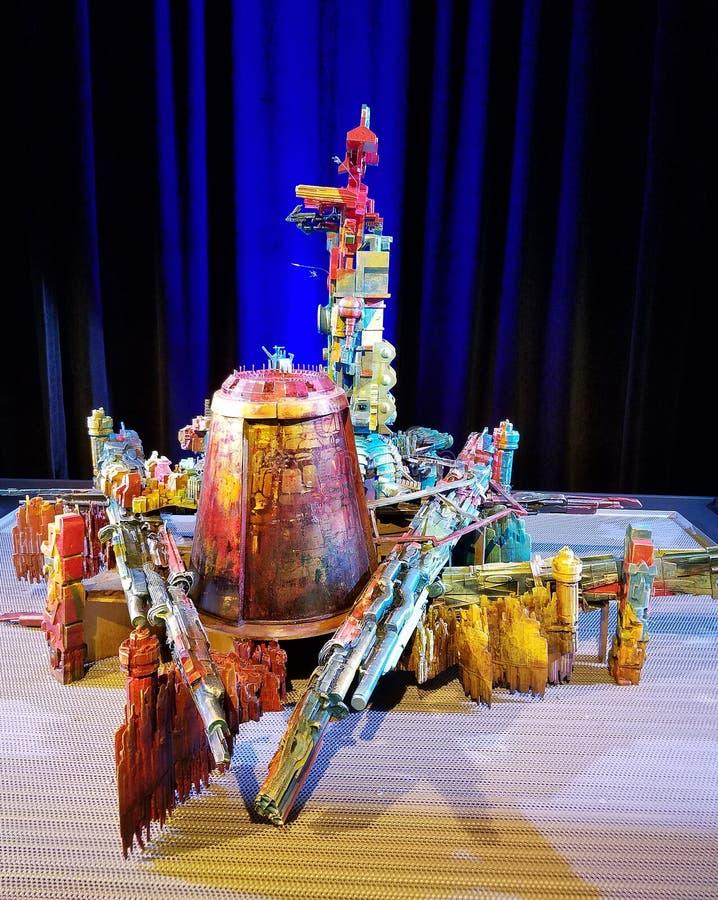 Модель города Sakaaran от Тора: Ragnarok стоковые фотографии rf