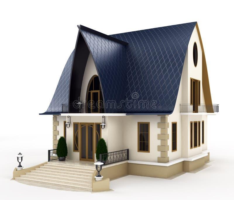 Модель дома семьи иллюстрация штока