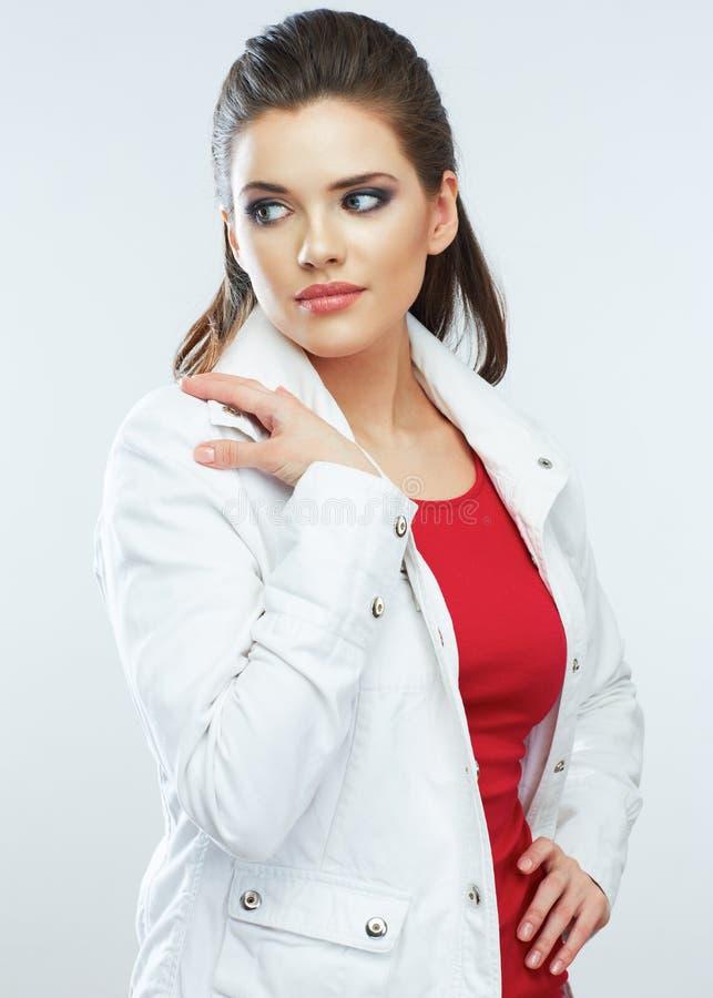 Модель женщины волосы длиной стоковые фото