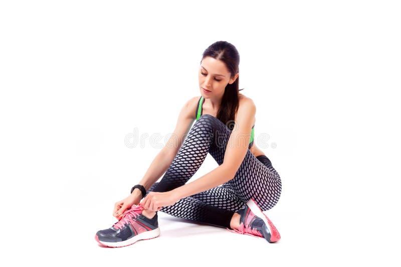 Модель женщины спорта стоковая фотография
