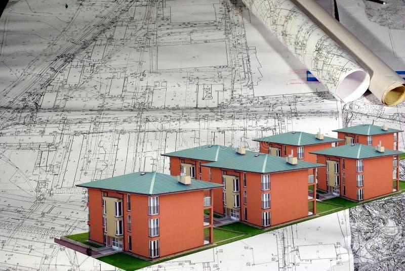 Модель зданий стоковые изображения rf