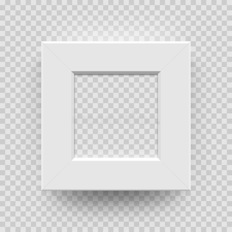 Модель квадрата вектора 3D photoframe изображения рамки фото белая бесплатная иллюстрация