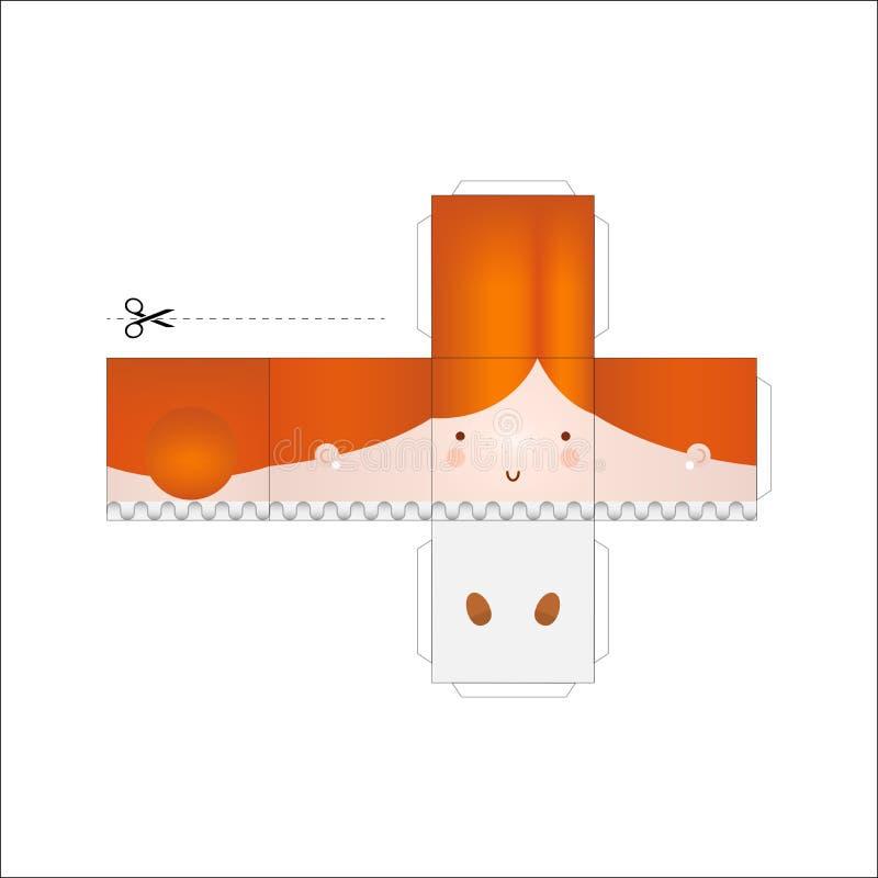 Модель куклы бумажная иллюстрация штока