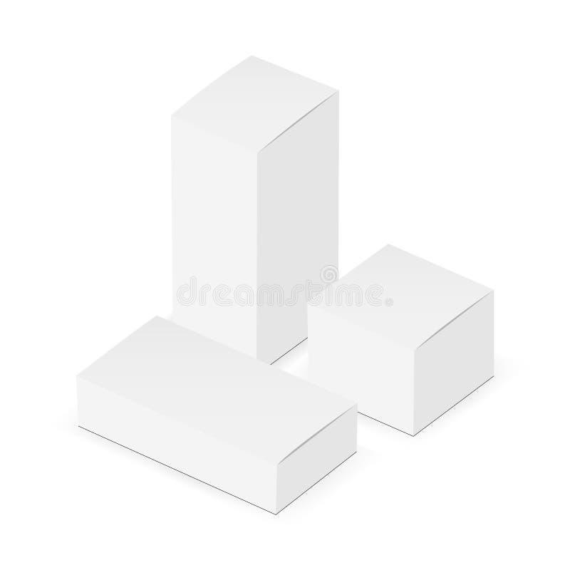 Модель-макеты прямоугольного и квадратного здравоохранения упаковывая бесплатная иллюстрация
