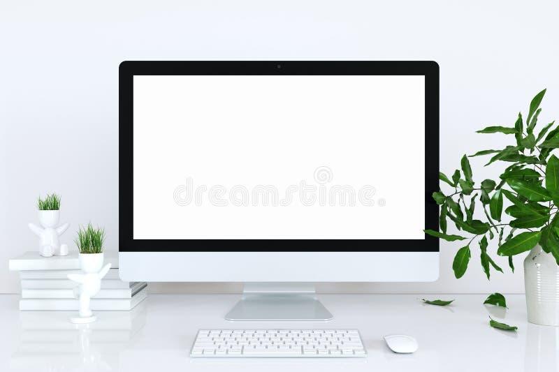 Модель-макет дисплея в интерьере Прибор шаблона для модель-макета стоковая фотография