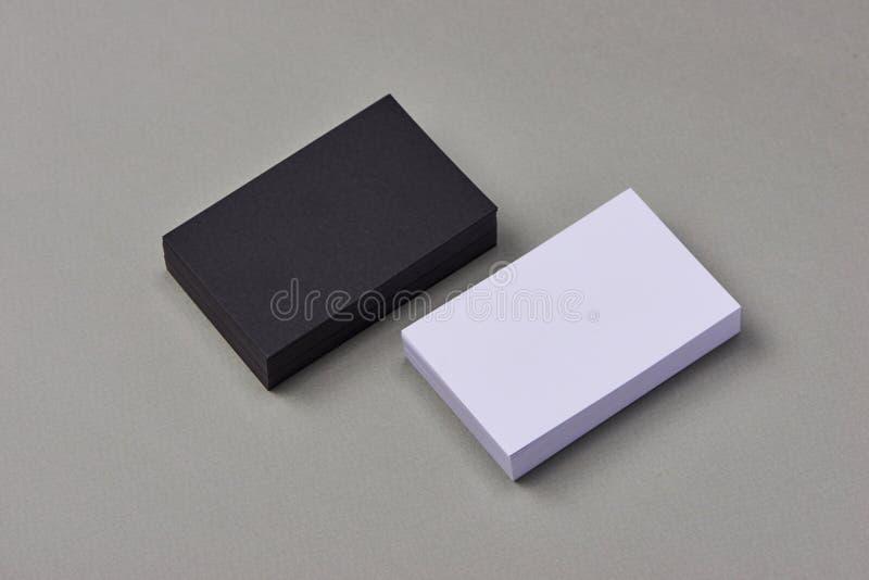 Модель-макет для клеймя идентичности Фото визитных карточек стоковое фото