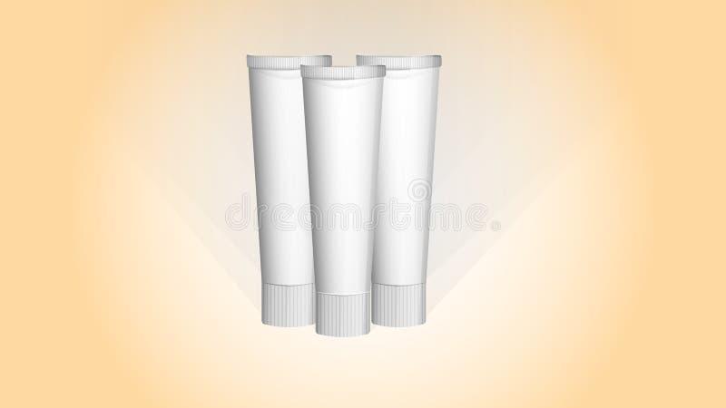 Модель-макет зубной пасты или сливк бесплатная иллюстрация