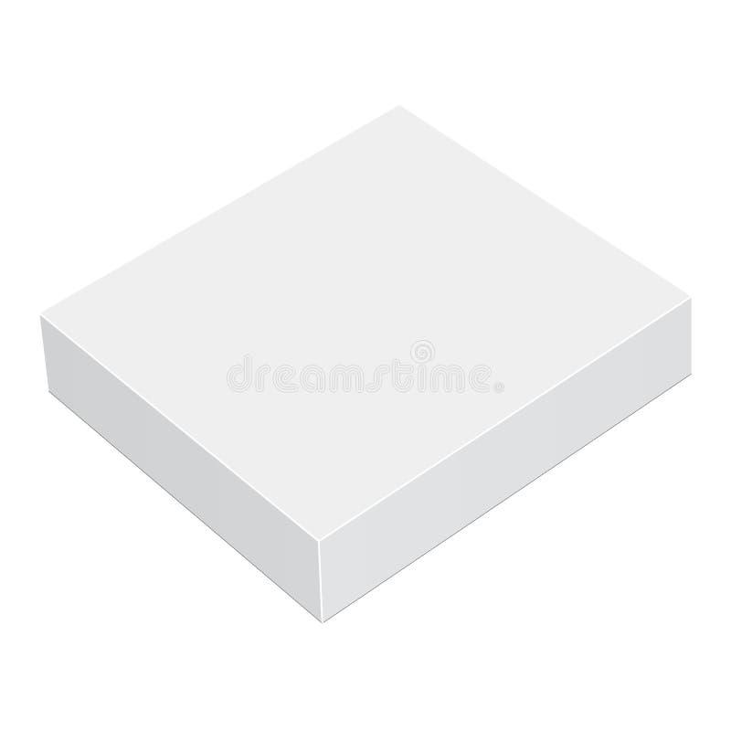 Модель-макет квадратной коробки бесплатная иллюстрация