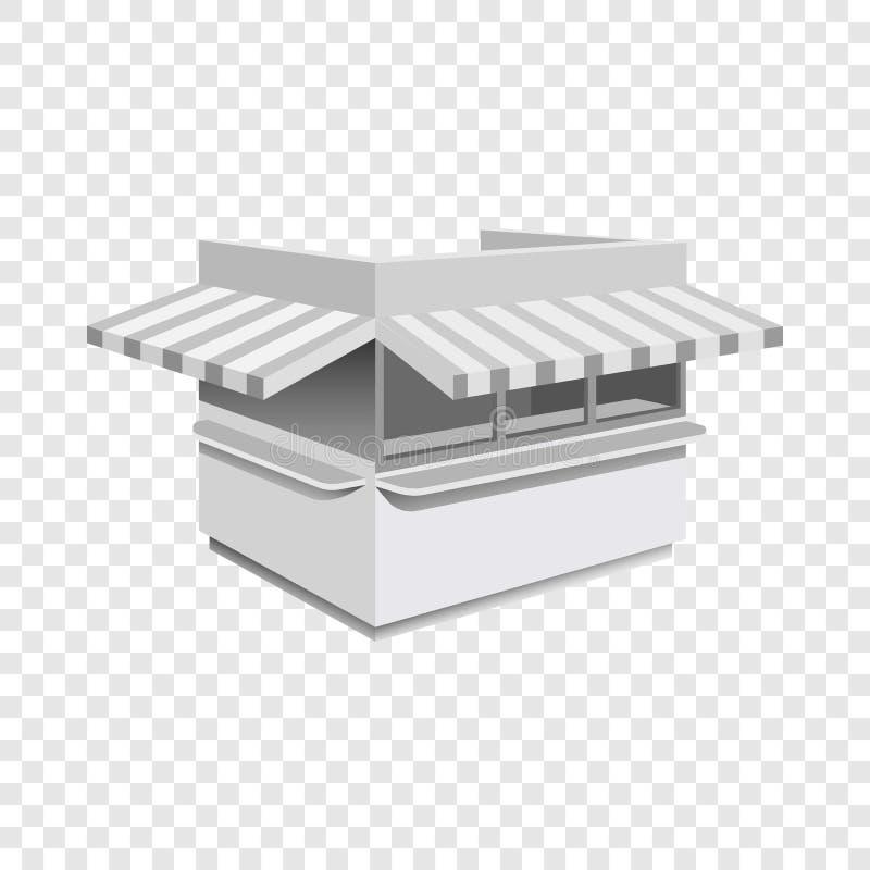 Модель-макет киоска, реалистический стиль бесплатная иллюстрация