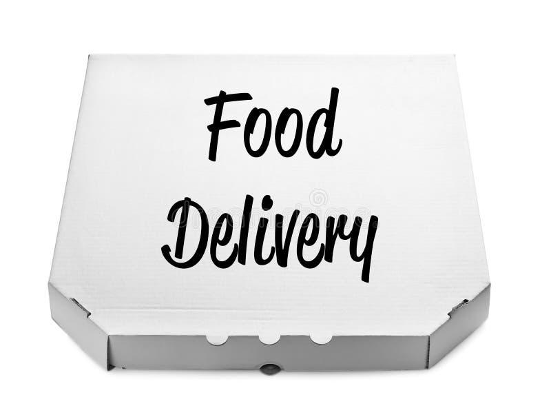 Модель-макет коробки пиццы картона стоковые фотографии rf