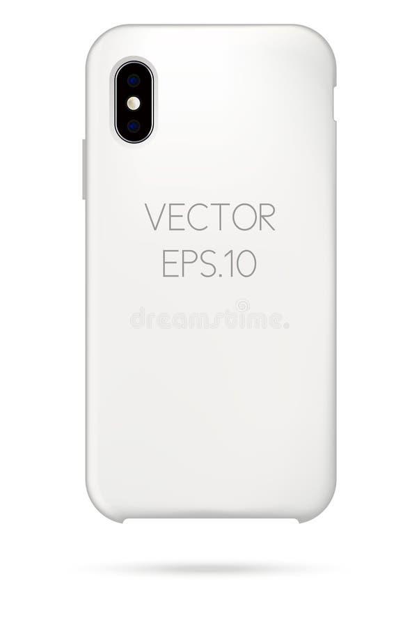 Модель-макет крышки телефона вектора стоковая фотография