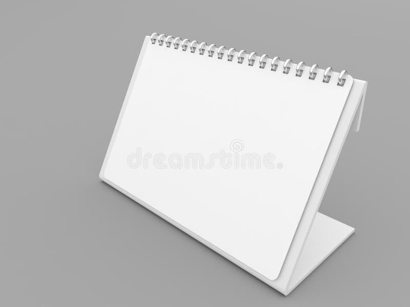 Модель-макет пробела календаря на серой предпосылке иллюстрация вектора