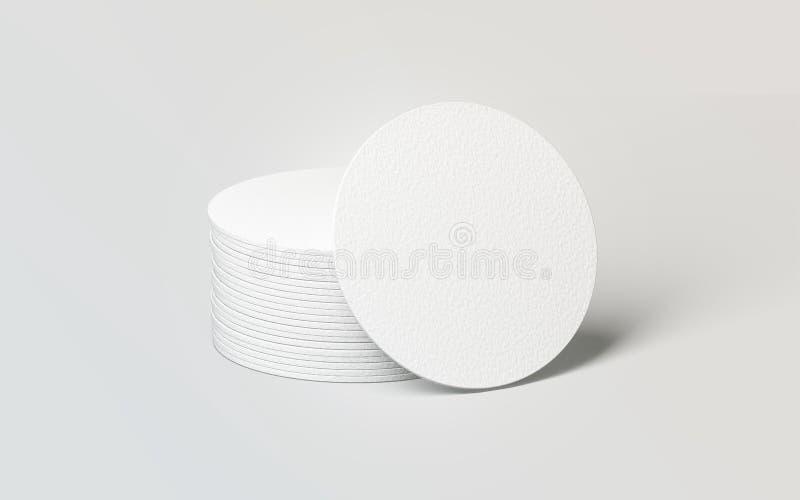 Модель-макет стога каботажных судн пива пробела белый круглый иллюстрация штока