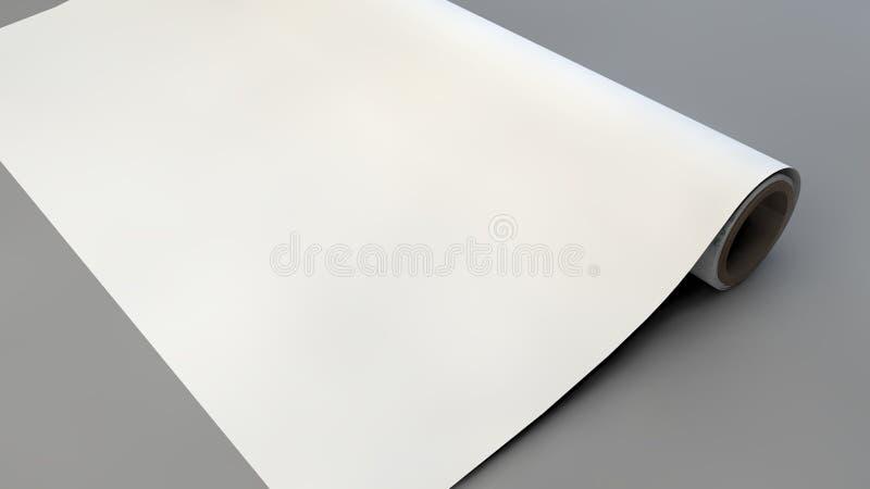 модель-макет упаковочной бумаги иллюстрация штока