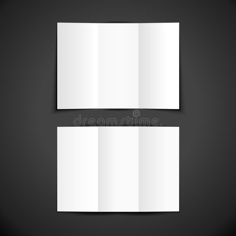 Модель-макет шаблона брошюры пробела вектора бесплатная иллюстрация