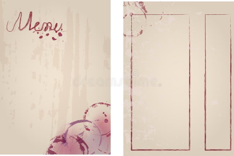 Модель-макет шаблона дизайна меню ресторана для печати вне, космос бесплатной копии, grungy вектор иллюстрация вектора