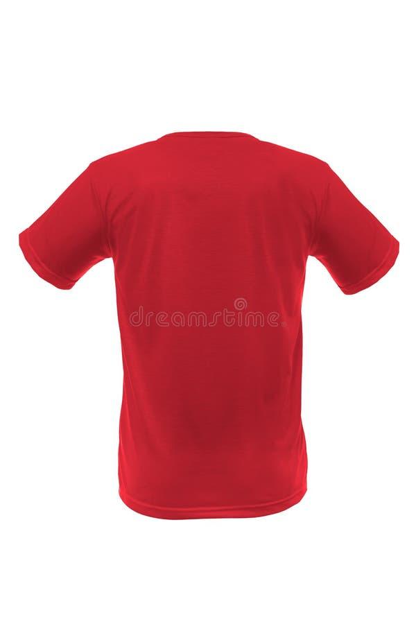 Модель-макет шаблона man& x27; футболка s на белой предпосылке стоковая фотография rf