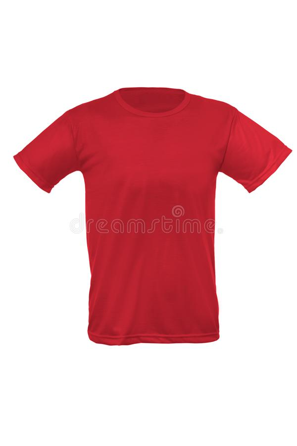 Модель-макет шаблона man& x27; футболка s на белой предпосылке стоковые фото