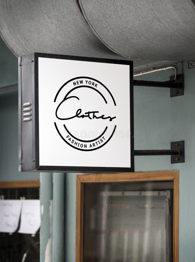 Модель-макет signage магазина стоковая фотография rf