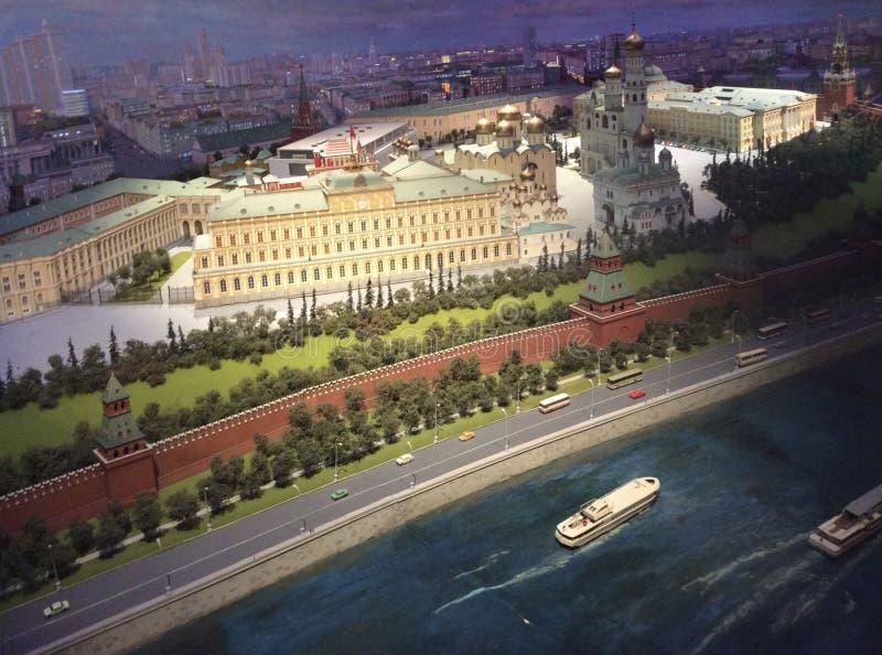 Модель Москвы Кремля в гостинице Radisson Украины стоковые изображения