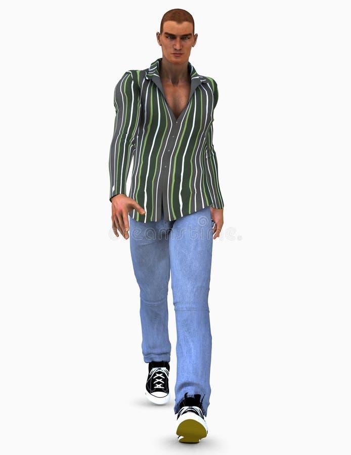 модель мужчины иллюстрации 3d Стоковое фото RF