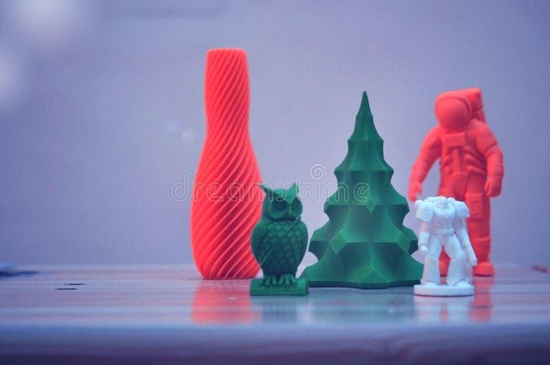 Модель напечатанная на принтере 3d стоковая фотография