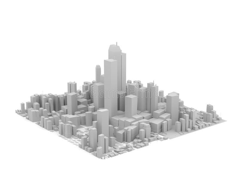 модель серого цвета города стоковое изображение