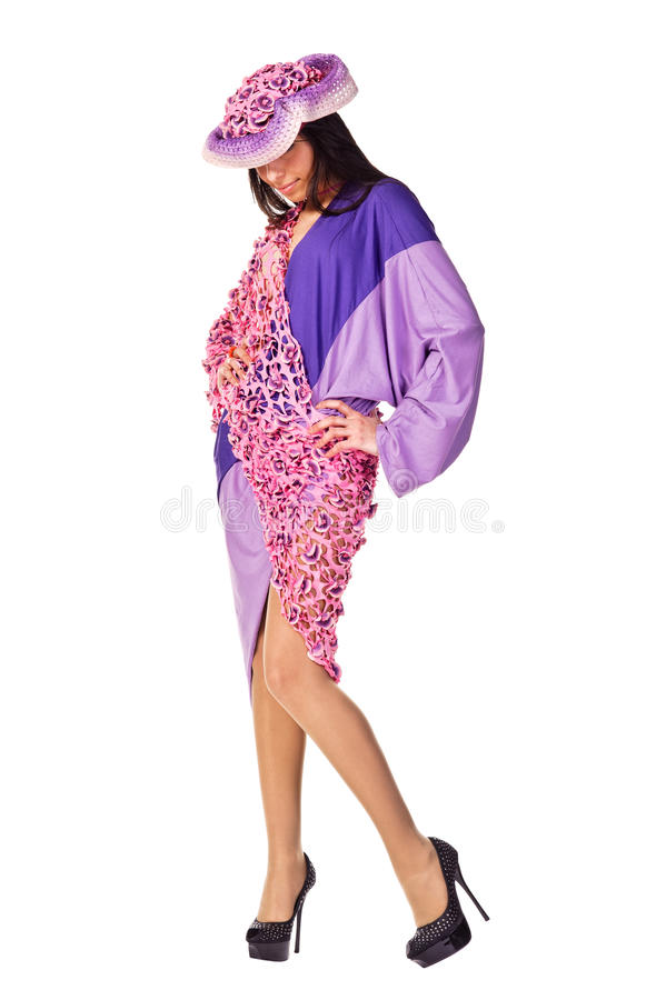 модель способа платья стильная стоковое фото
