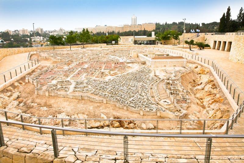 Модель стародедовского Иерусалима, Израиля стоковая фотография rf