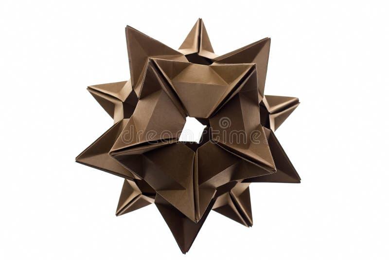 Модель origami Stellated spiky стоковое изображение rf