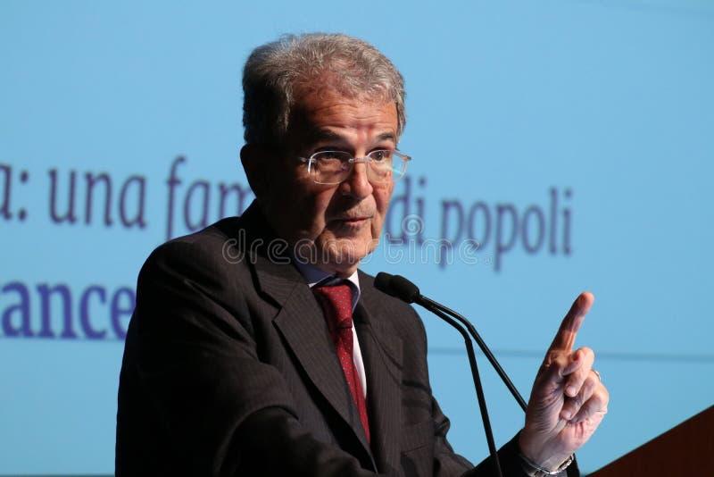 Модена, Италия, апрель 2019 - Romano Prodi, общественное конференция, европейский политик стоковые изображения