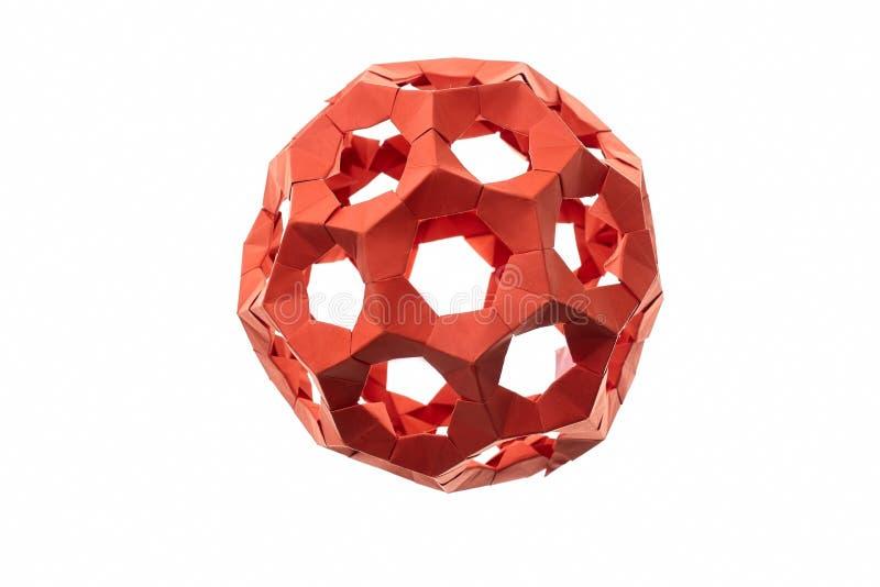Модульная модель origami шарика стоковое фото rf