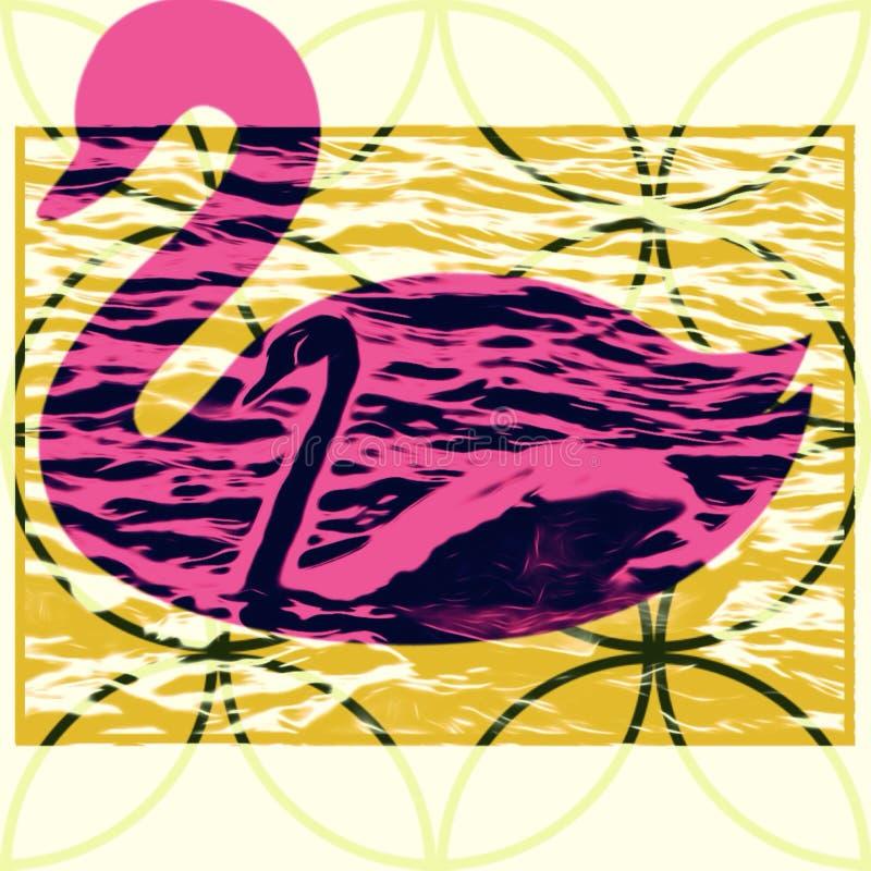 Мое фото лебедя с влиянием стоковые фото