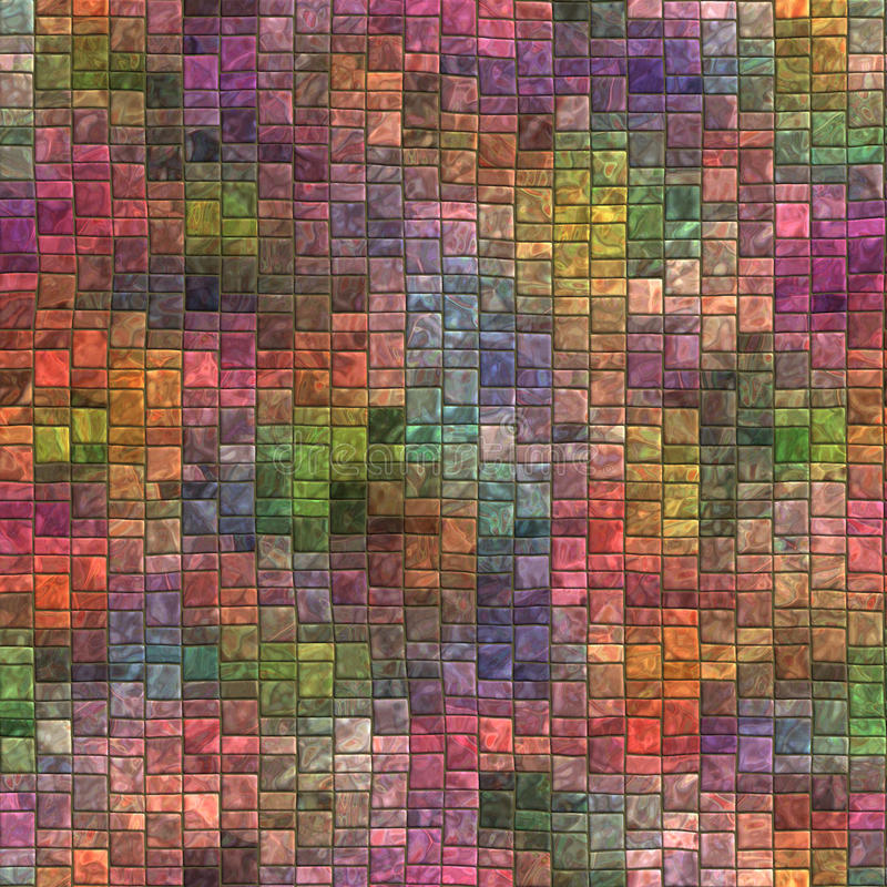 Мозаика безшовная и текстура Tileable иллюстрация вектора