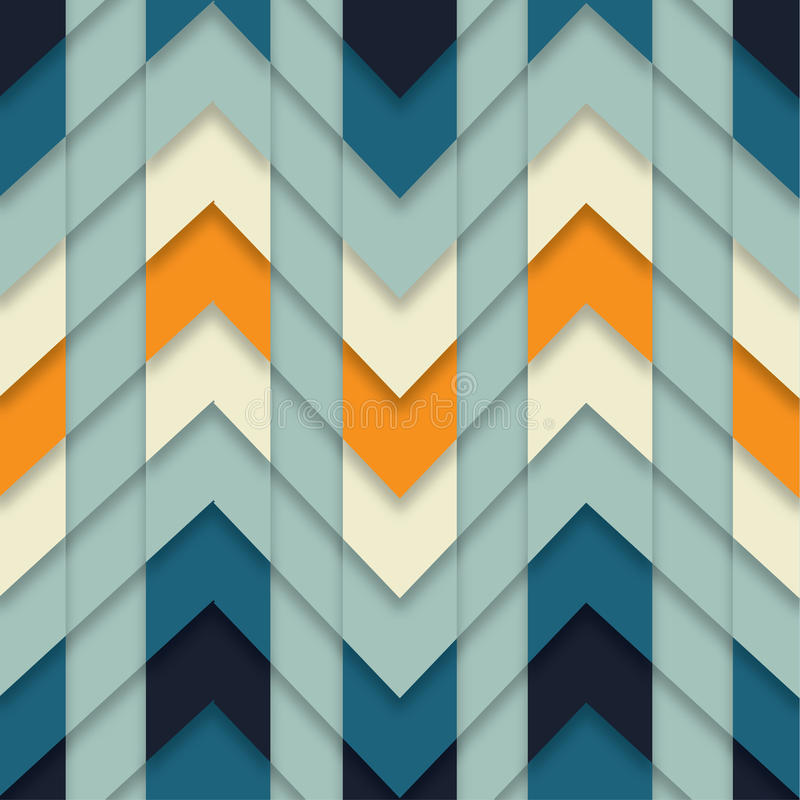 Мозаика безшовного конспекта картины зигзага геометрическая крыла вектор черепицей предпосылки иллюстрация штока