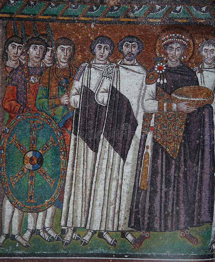 Мозаика в базилике Сан Vitale, Равенны, Италии стоковое фото