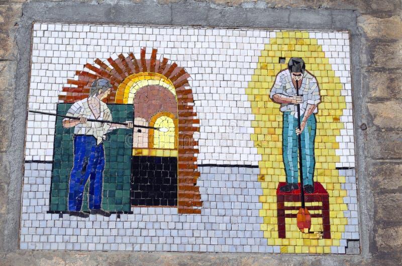 Мозаика в острове Murano в Венеции стоковые фотографии rf