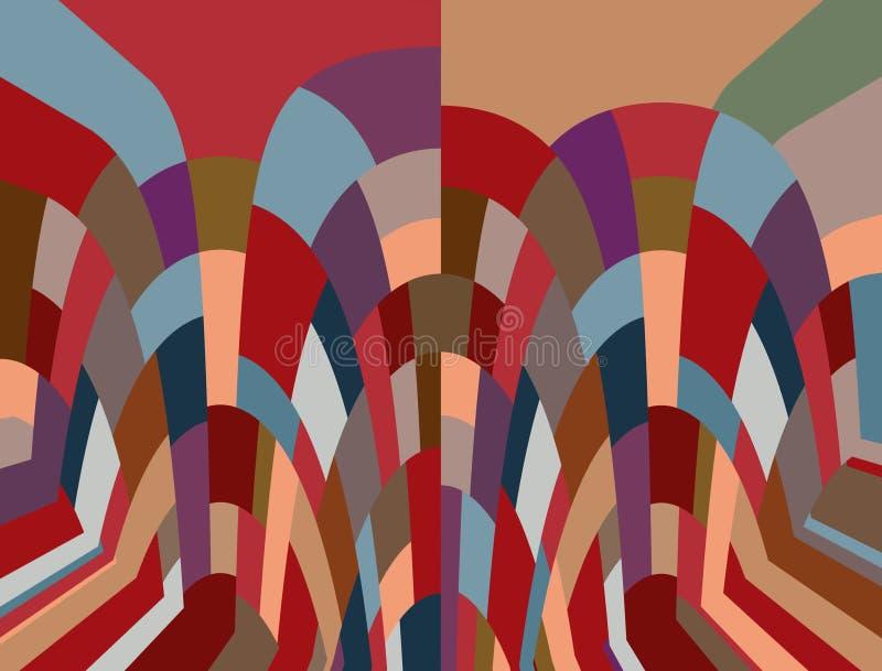 Мозаика в различных земляных красках иллюстрация вектора