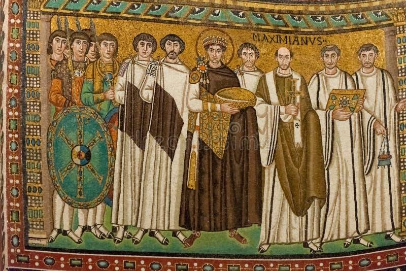 Мозаика в Сан Vitale стоковое фото rf