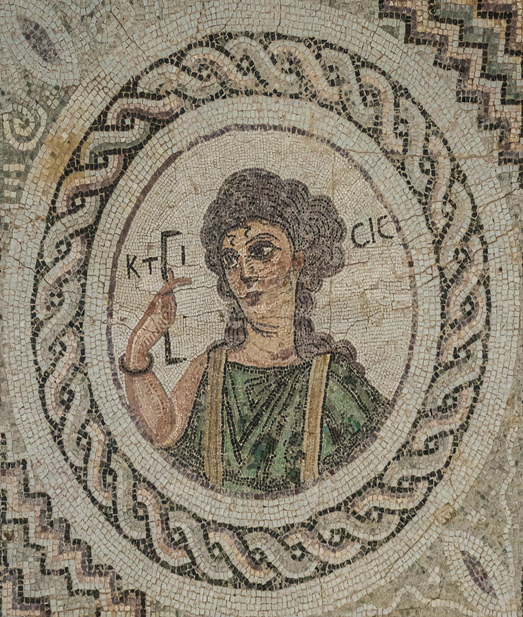 Мозаика в Kourion, Кипре стоковое изображение