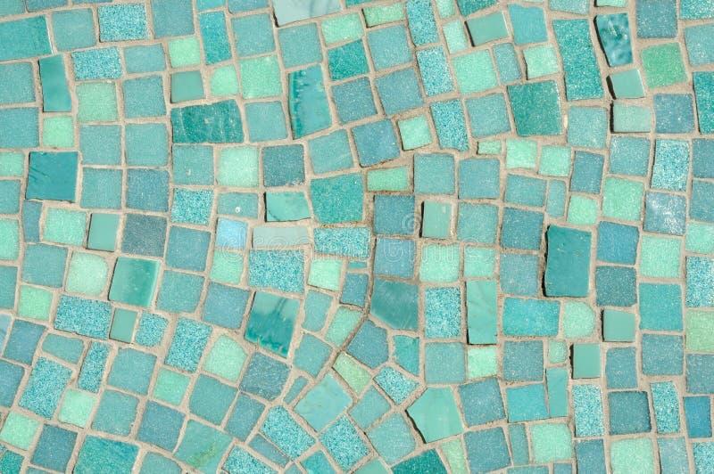 мозаика голубого зеленого цвета стоковые фото