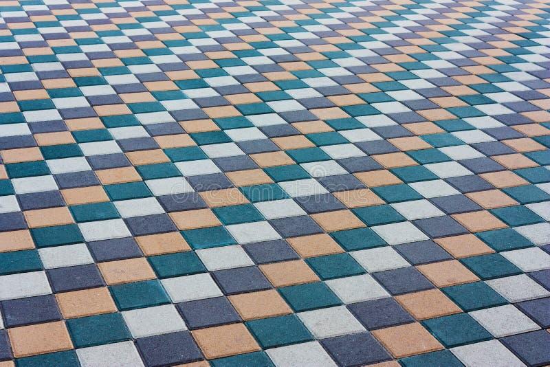 Мозаика камней цвета вымощая Красивая абстрактная предпосылка Путь города, зона камня стоковое изображение rf