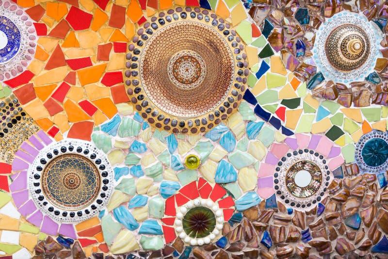 Мозаика керамической плитки в традиционном тайском стиле стоковые фото