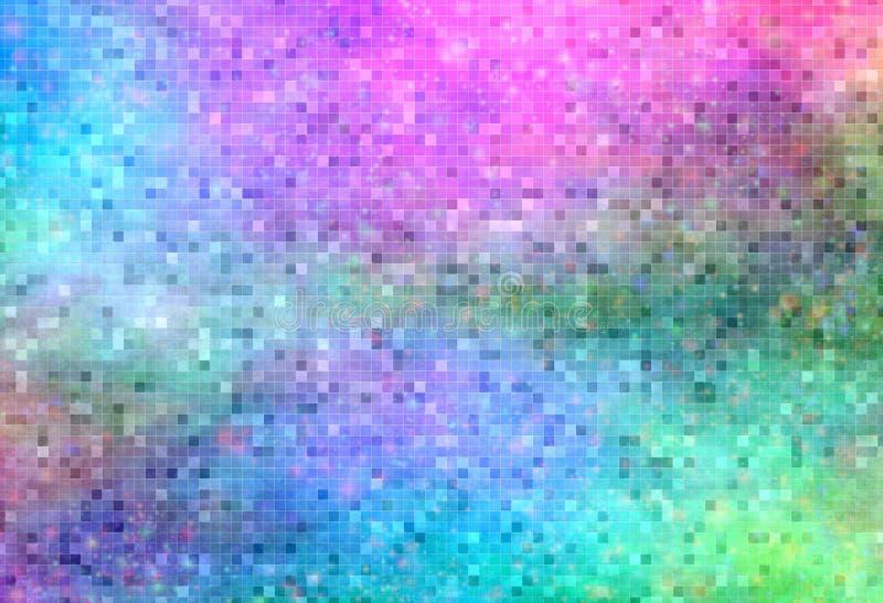 мозаика предпосылки бесплотная психоделическая иллюстрация штока