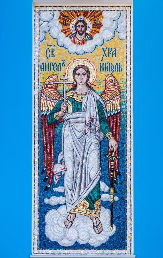 Мозаика святого ангел-хранителя стоковые изображения rf