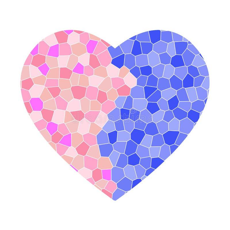 мозаика сломленного сердца иллюстрация вектора