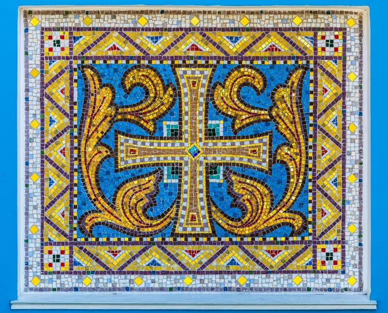 Мозаика старого христианского орнамента стоковые фотографии rf