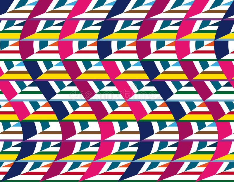 Мозаика треугольников в различных цветах цифровое творение иллюстрация вектора